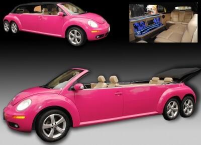 beatle rosa, coche para XV