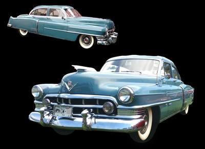 Cadillac 1950, azul,en renta, renta de coches cdmx