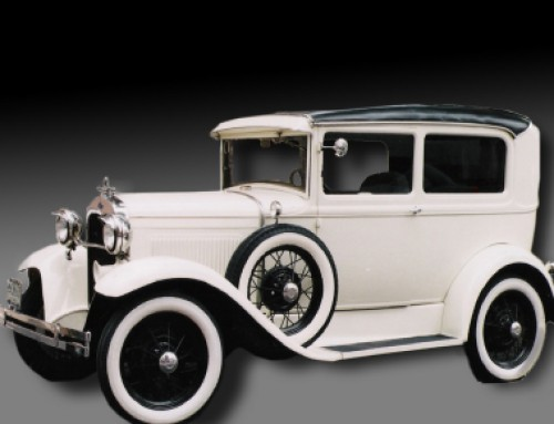 Ford Tudor 1930 Blanco